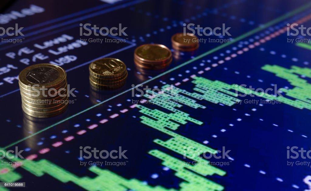 stock exchange chart stock photo