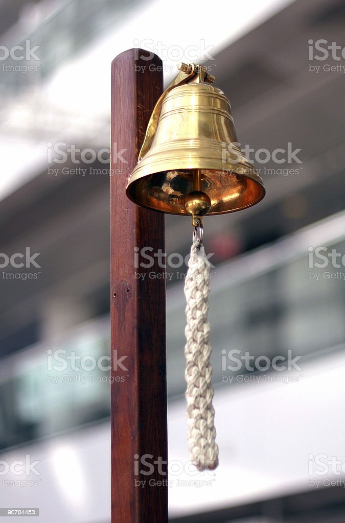 stock exchange golden bell stock photo
