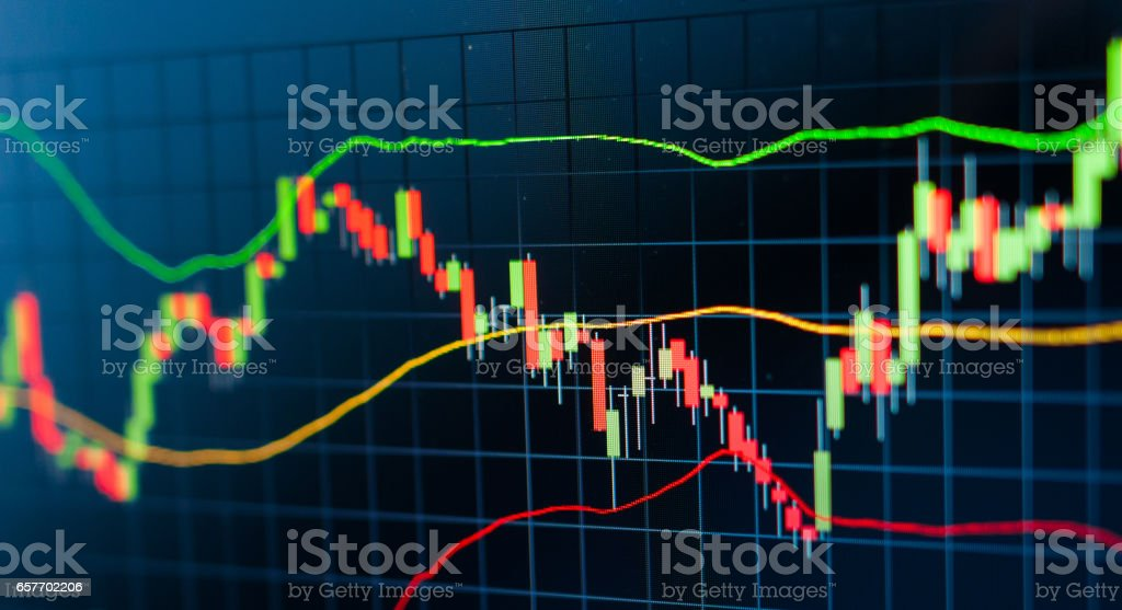 stock exchange graph background stock photo