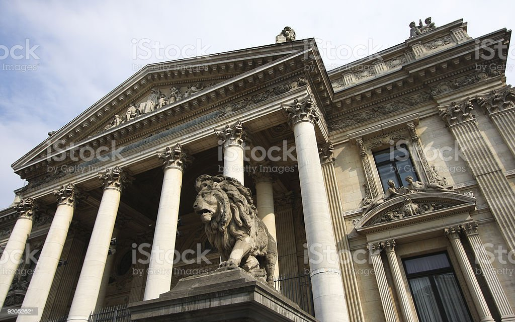 Stock Exchange in Brussels royalty-free stock photo