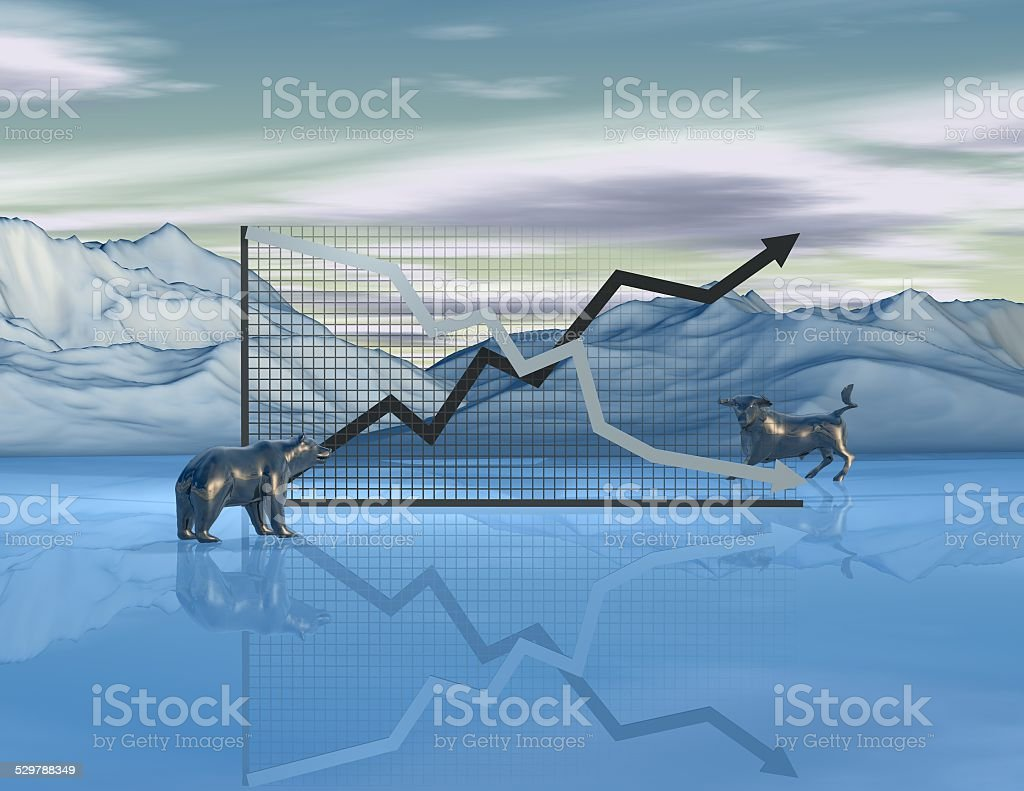 Stock exchange market abstract concept with graph stock photo