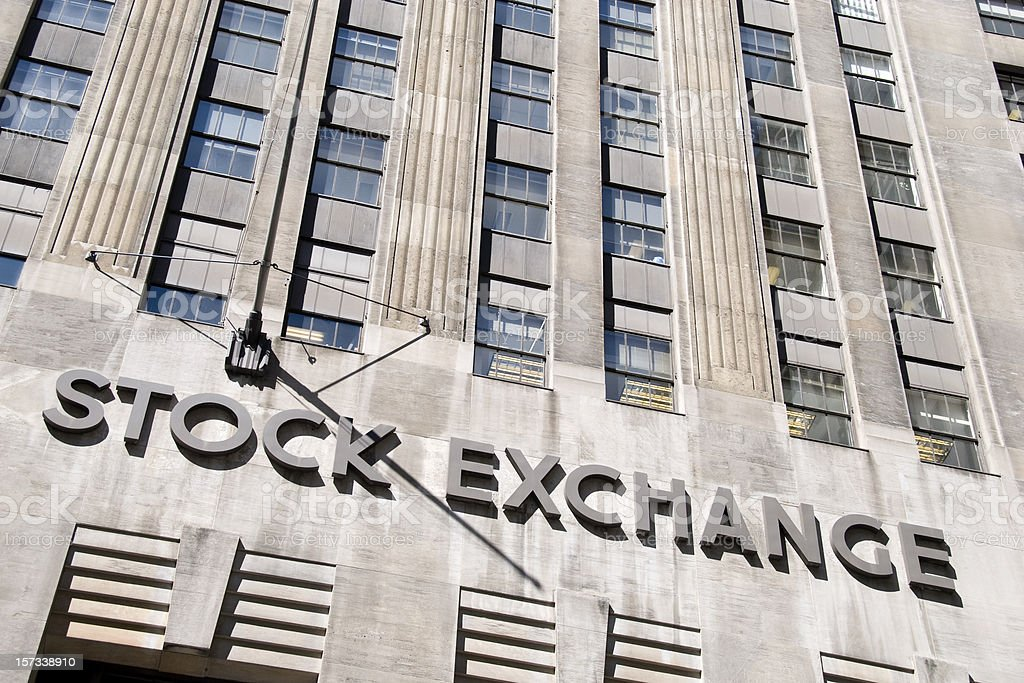 Stock Exchange Sign royalty-free stock photo