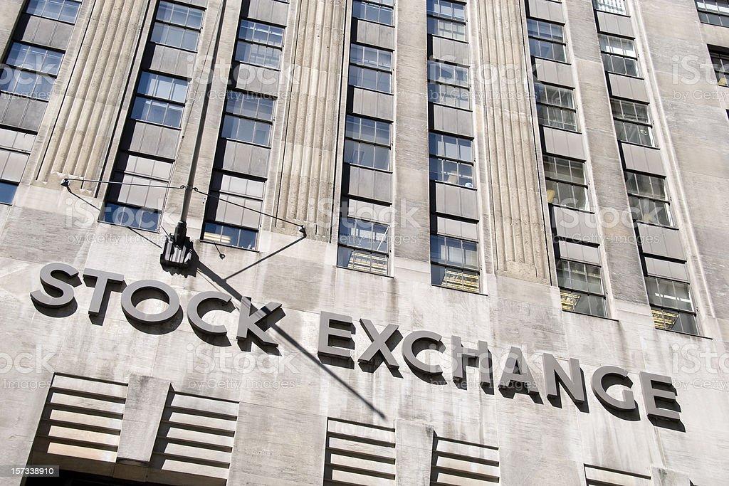 Stock Exchange Sign stock photo