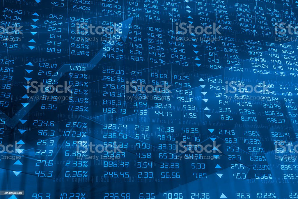 Stock Exchange Ticker Wall stock photo