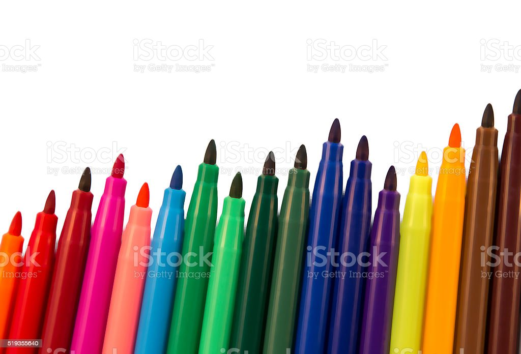 stock graph pens stock photo