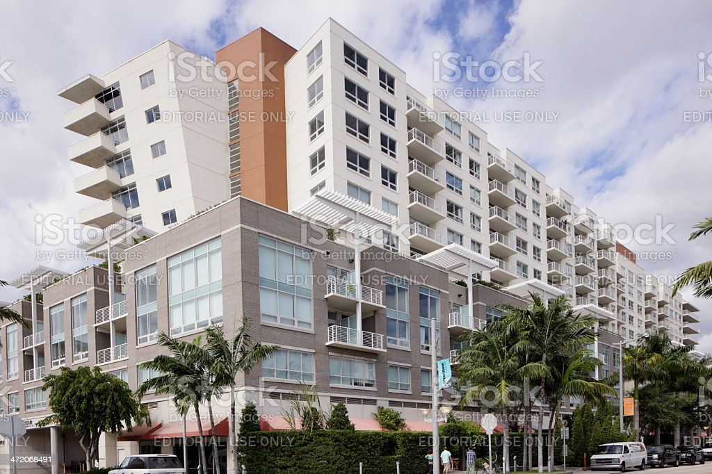 Stock image of a mid-rise condominium stock photo