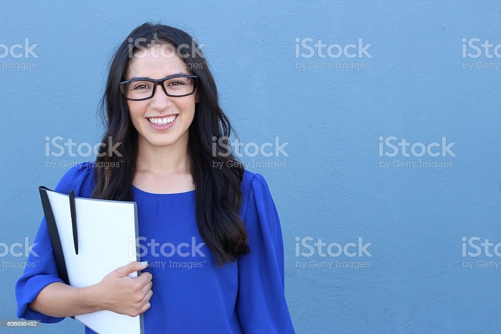 Stock image of female college student stock photo