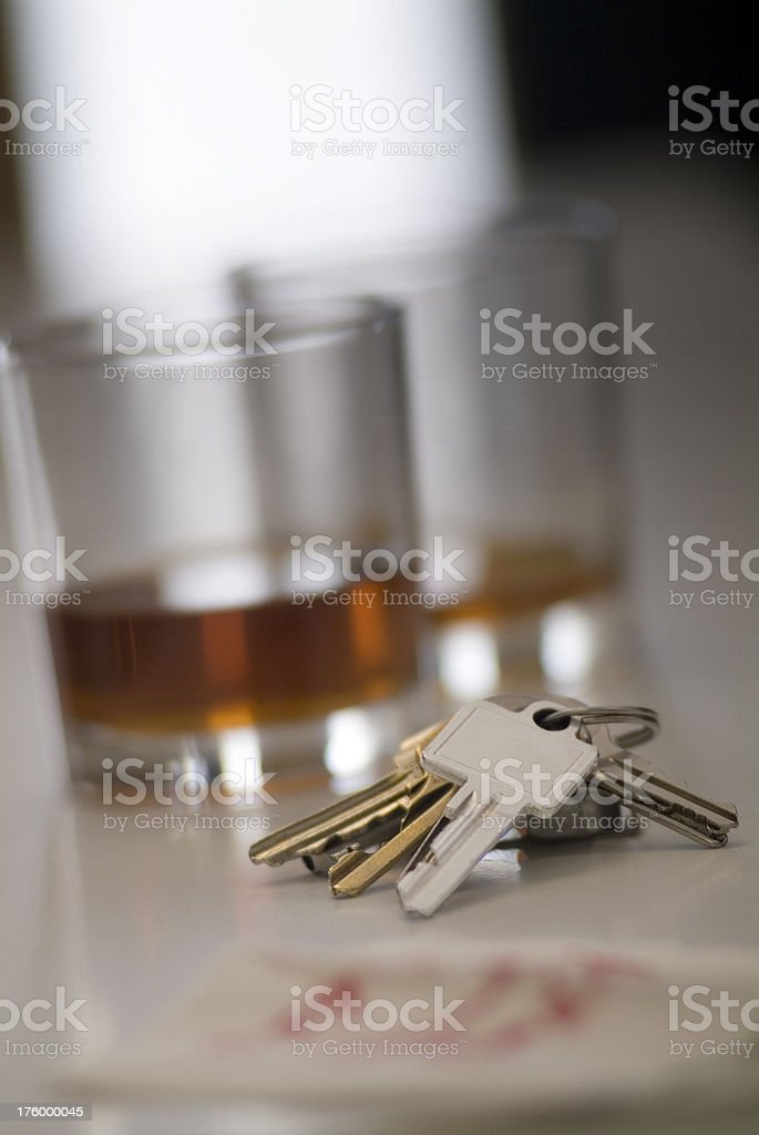 Stock Image Whiskey & Keys stock photo
