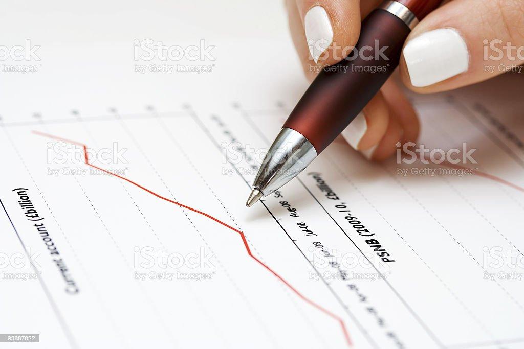 Stock index dynamics monitoring royalty-free stock photo