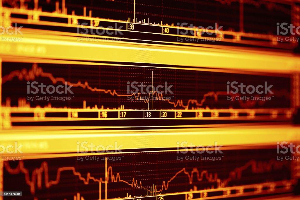 Stock index dynamics royalty-free stock photo