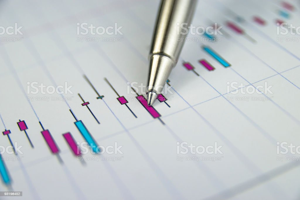 Stock market analyse stock photo