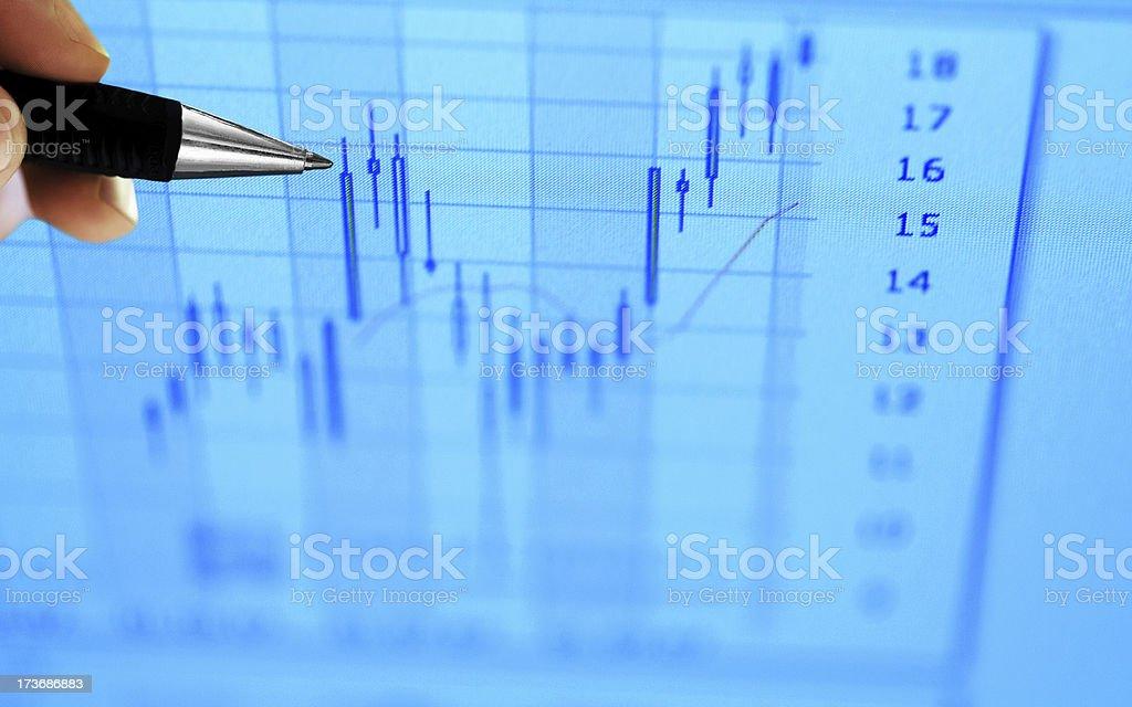 Stock Market Analyze royalty-free stock photo