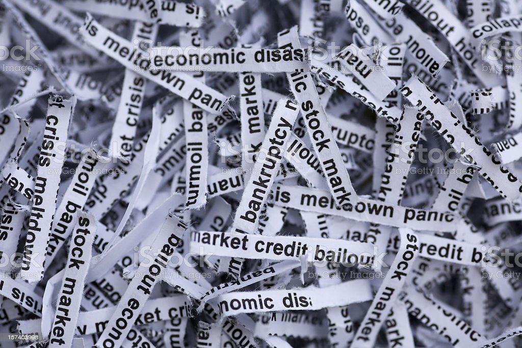 Stock Market and Economy Meltdown Panic stock photo