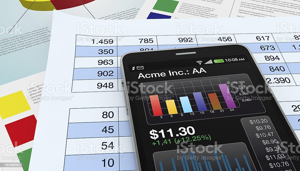 stock market and technology, concept royalty-free stock photo