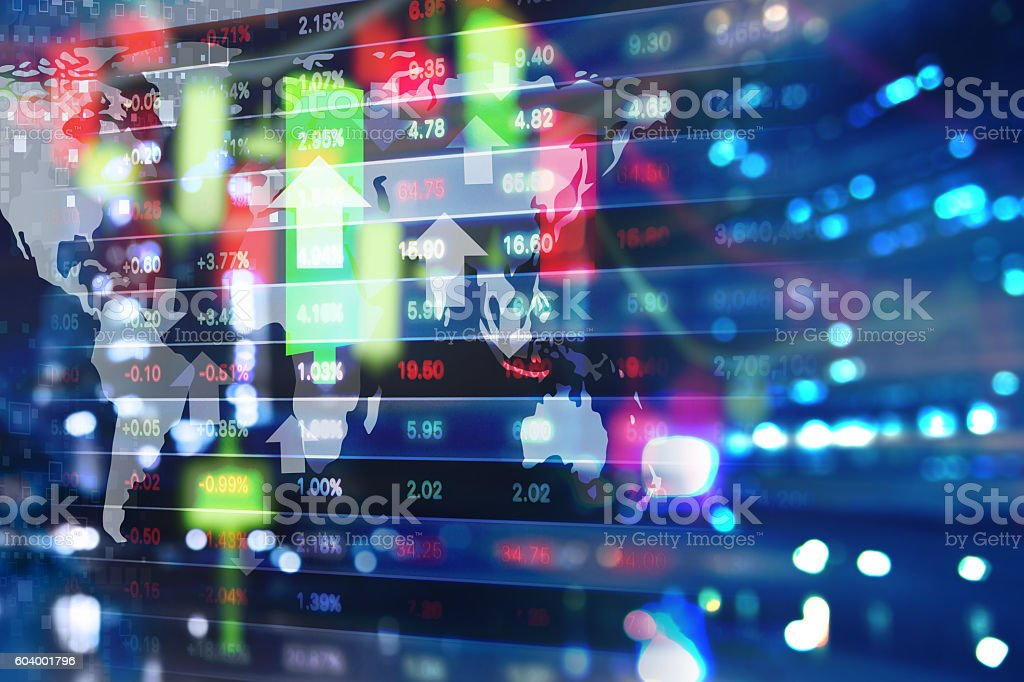 Stock market background design stock photo