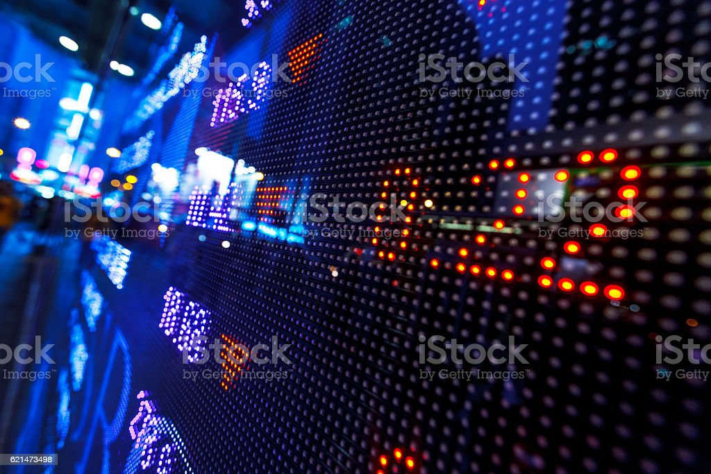 Stock market board stock photo
