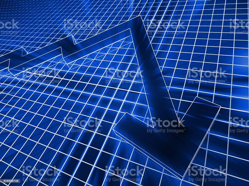 Stock market chart graph finance concept stock photo