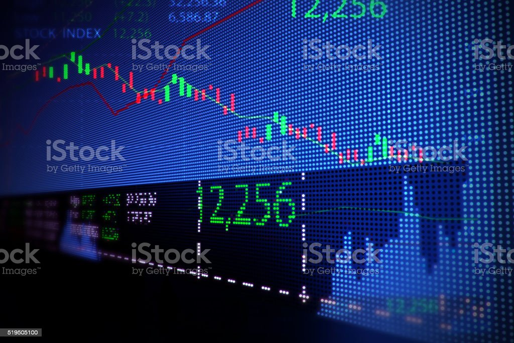 stock market chart  illustration background stock photo