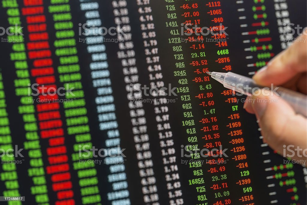 Stock market charts  Data royalty-free stock photo