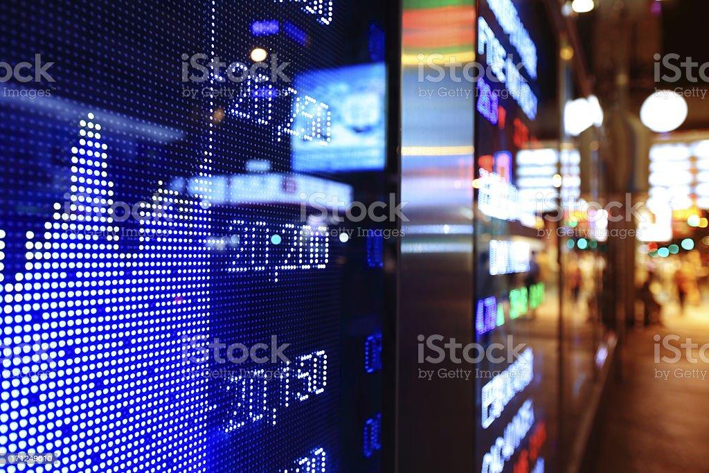 Stock market charts royalty-free stock photo