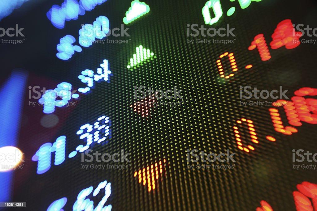 Stock market charts stock photo