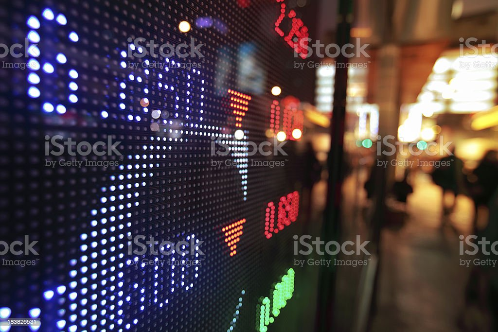 Stock market charts royalty-free stock photo