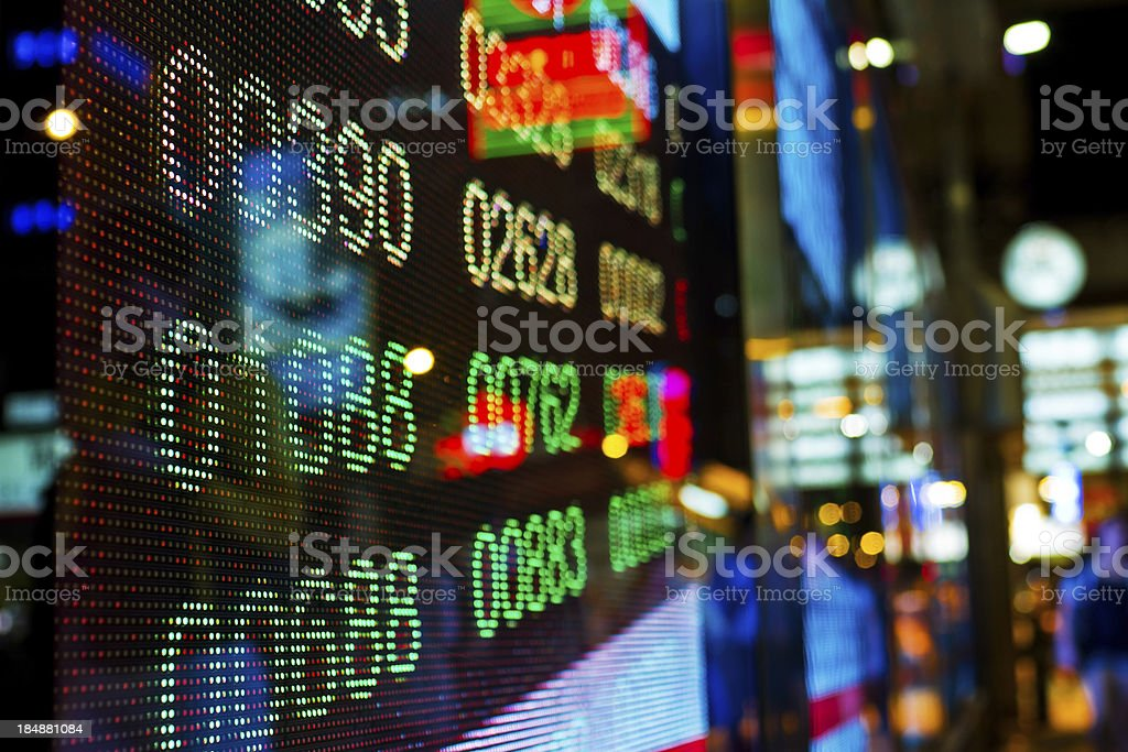 Stock market charts stock photo