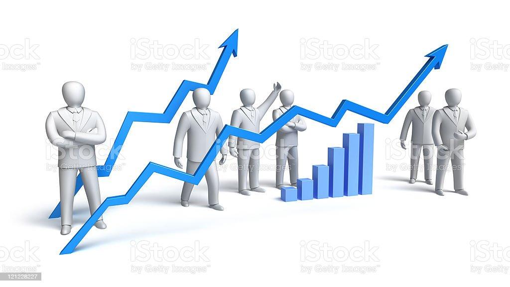 Stock market concept royalty-free stock photo