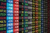 Stock market concept