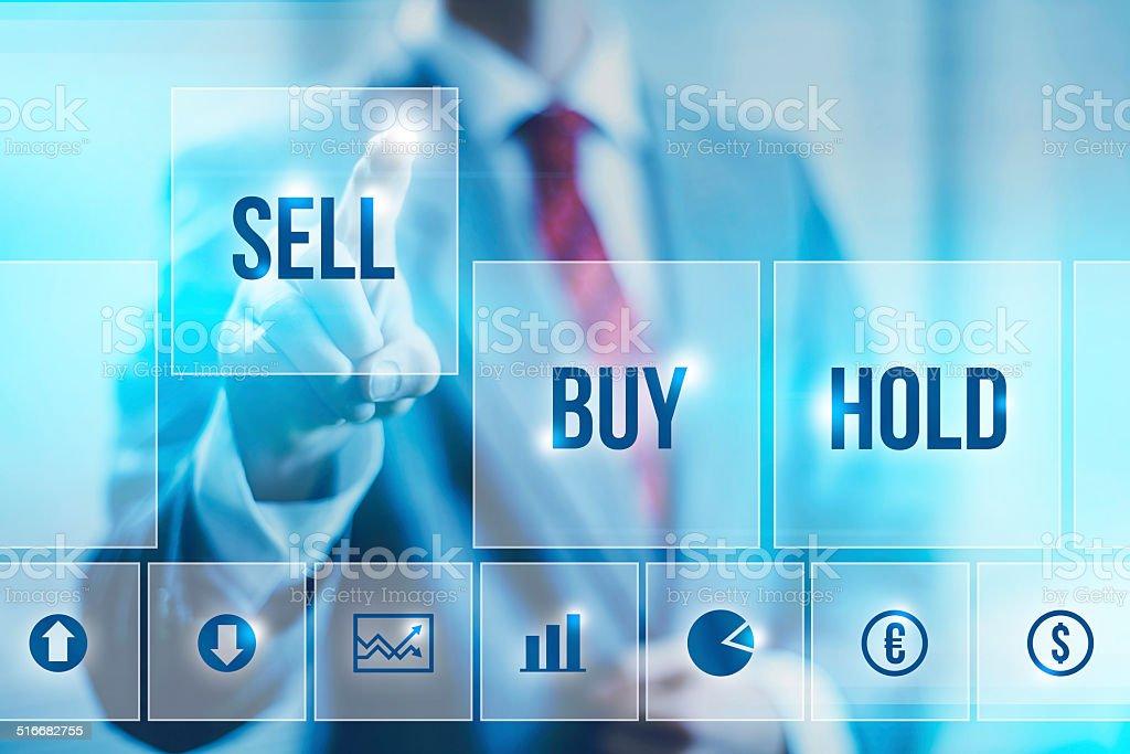 Stock market concept stock photo