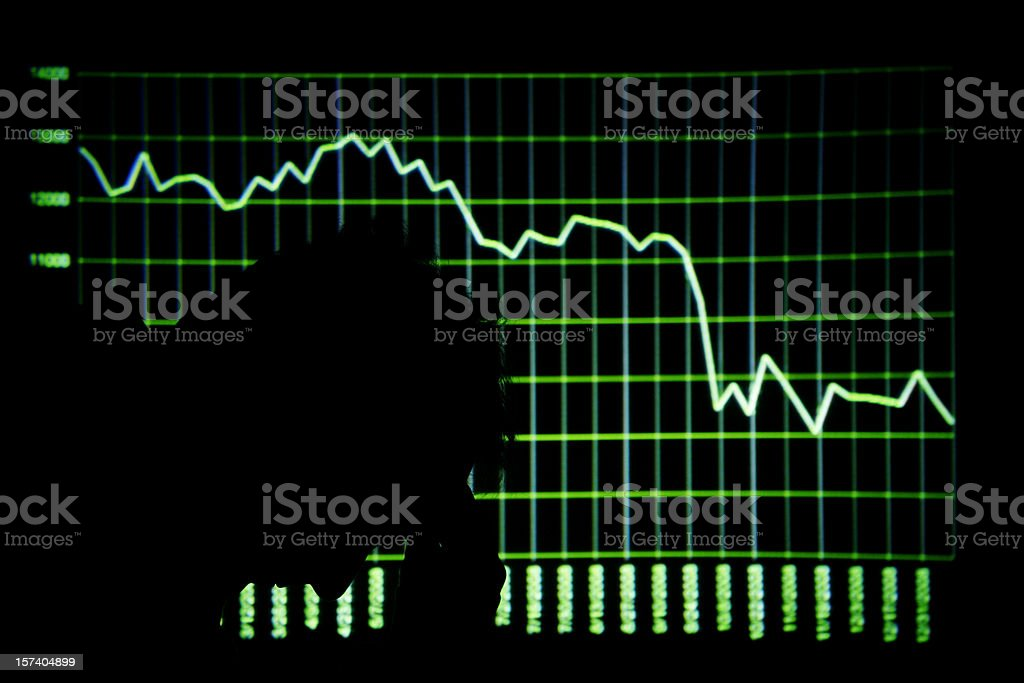 Stock Market Crash royalty-free stock photo