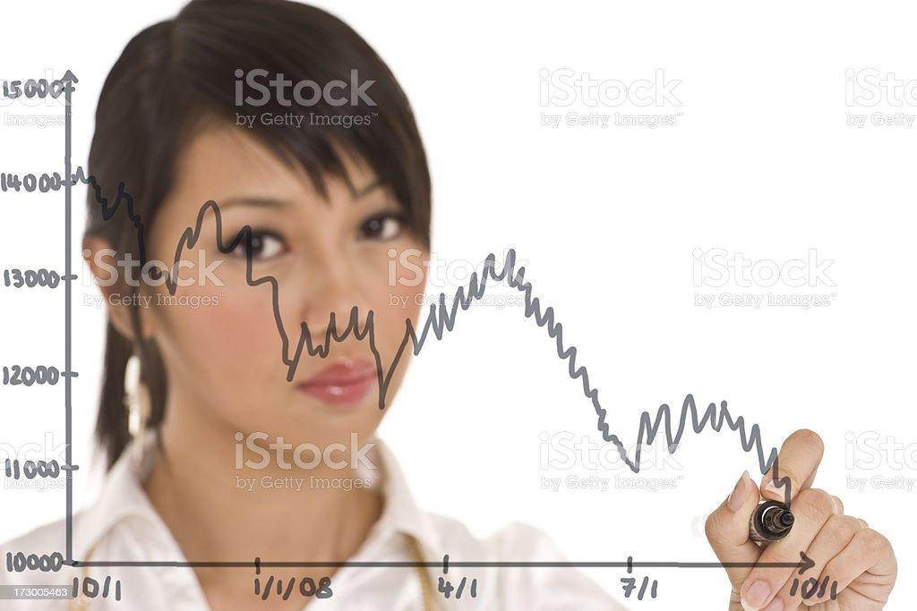 Stock market crash royalty-free stock photo