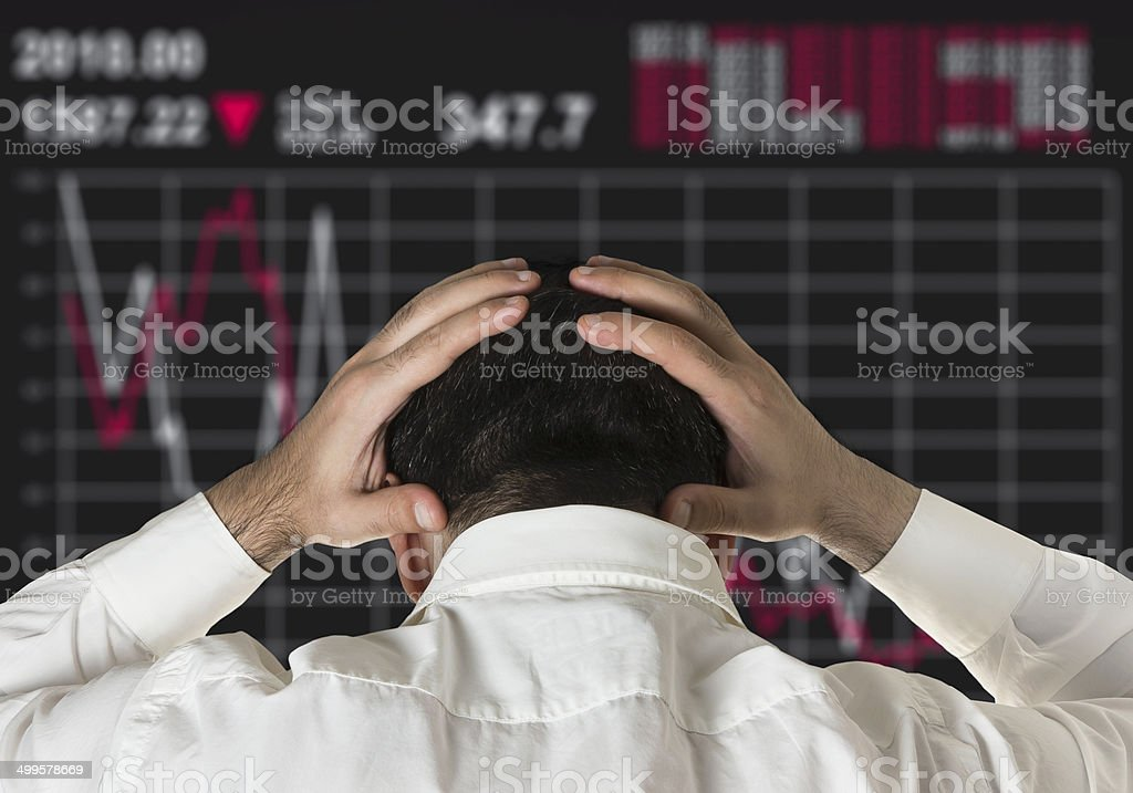 stock market crash stock photo