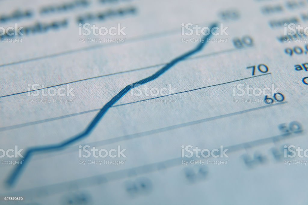 Stock market data chart investment business report stock photo
