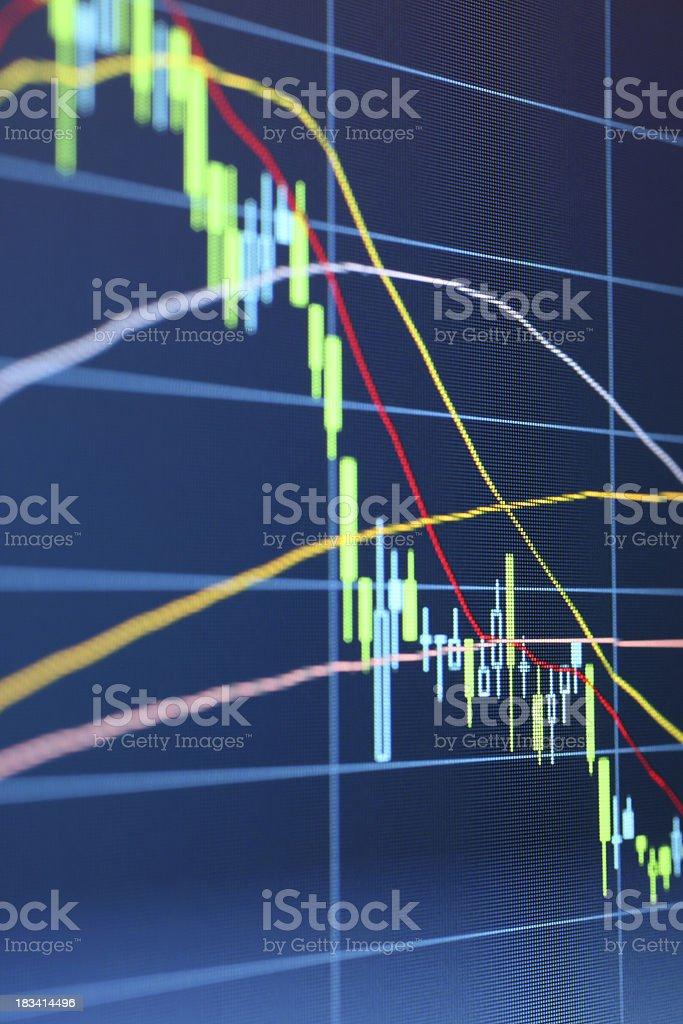Stock Market Data Chart royalty-free stock photo
