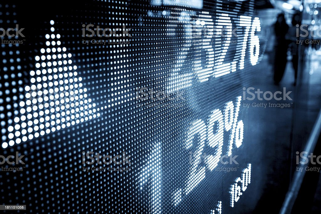 stock market data stock photo