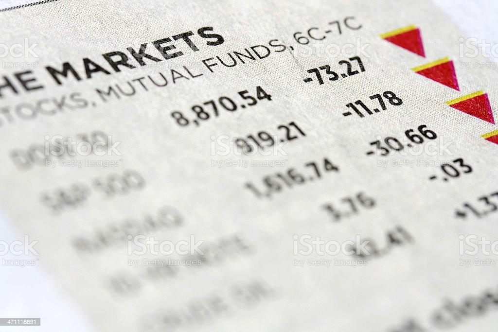 Stock market data royalty-free stock photo