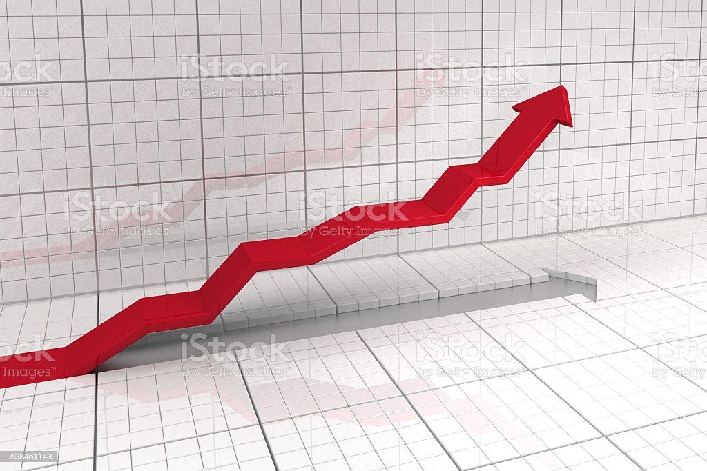 stock market diagram stock photo