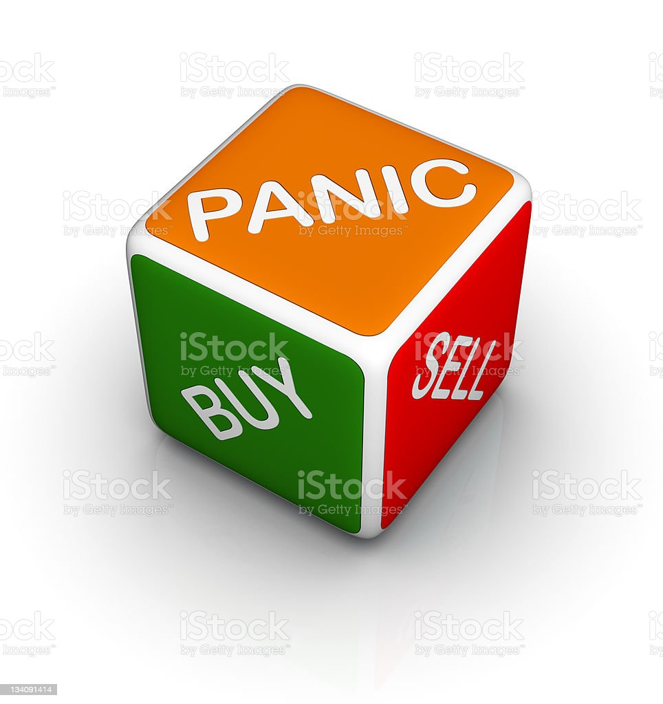 stock market dice stock photo