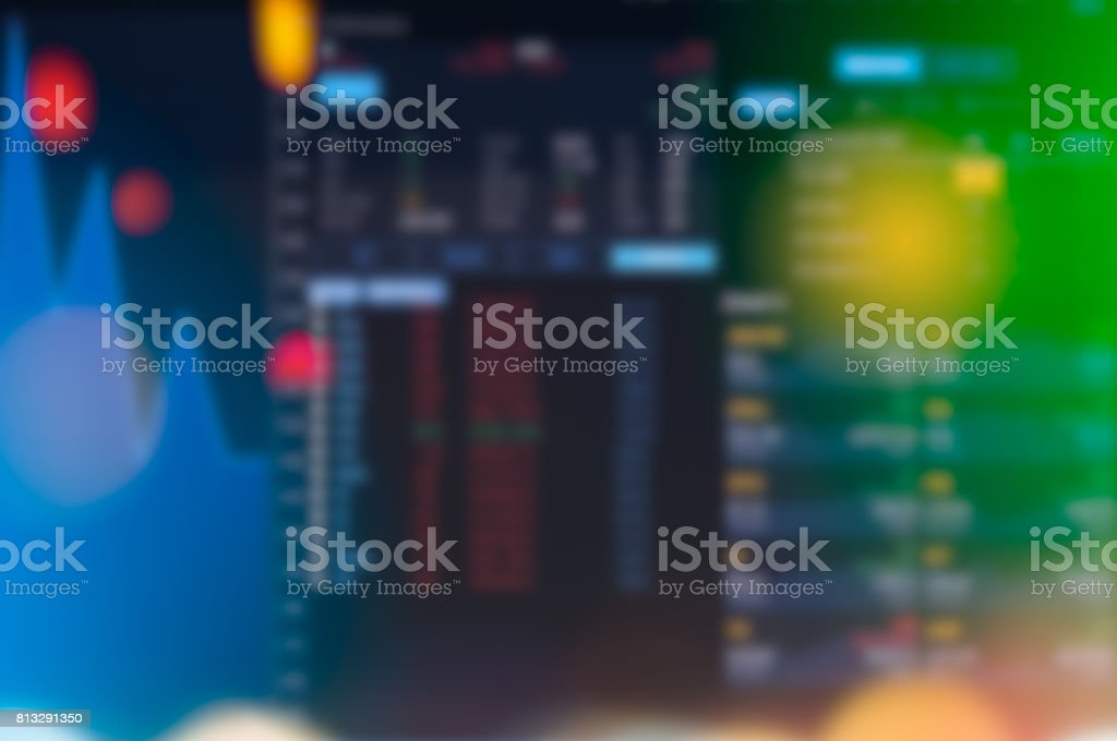 Stock market digital graph chart on LED display concept. A large display of daily stock market price and quotation. Indicator financial forex trade education background. stock photo