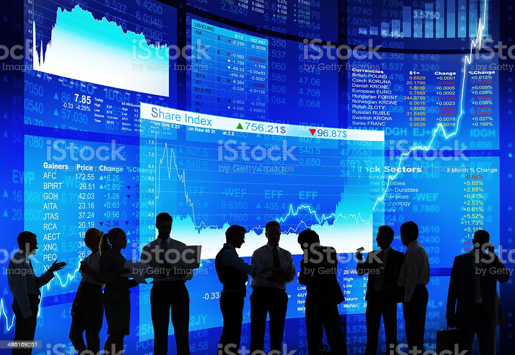 Stock Market Discussion stock photo