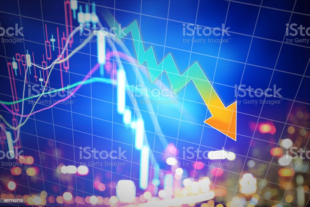 Stock market display stock photo