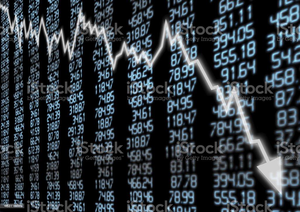 Stock Market Down stock photo