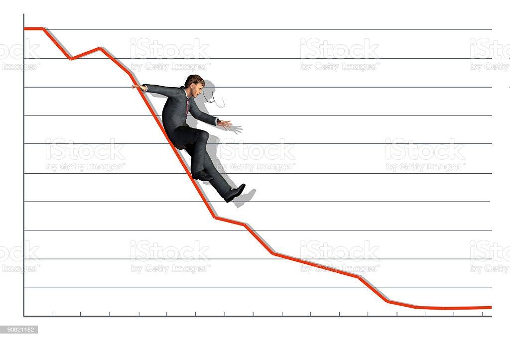 Stock Market Falling royalty-free stock photo
