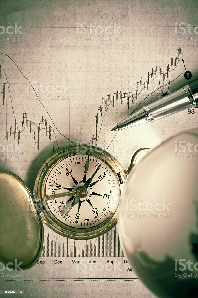stock market fluctuations royalty-free stock photo