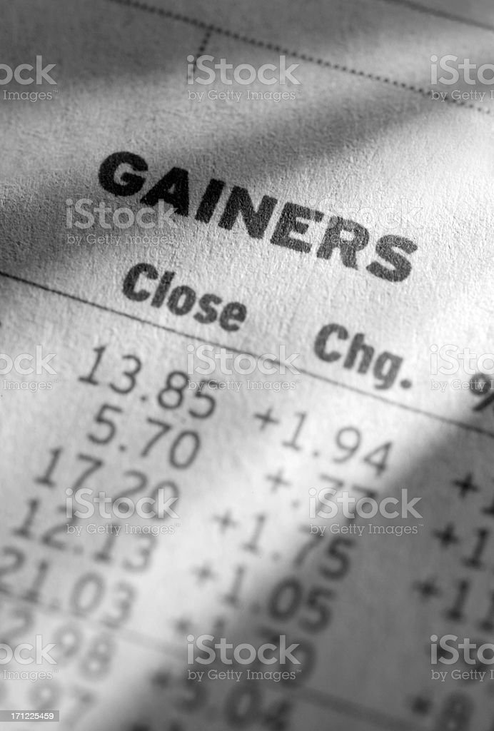 Stock Market Gainers royalty-free stock photo