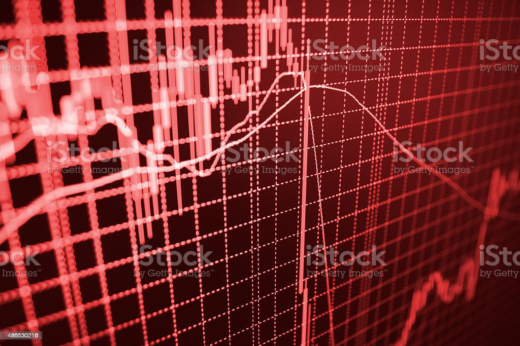 Stock market graph and bar chart price display vector art illustration