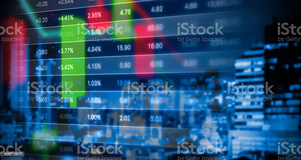 Stock market graph background stock photo