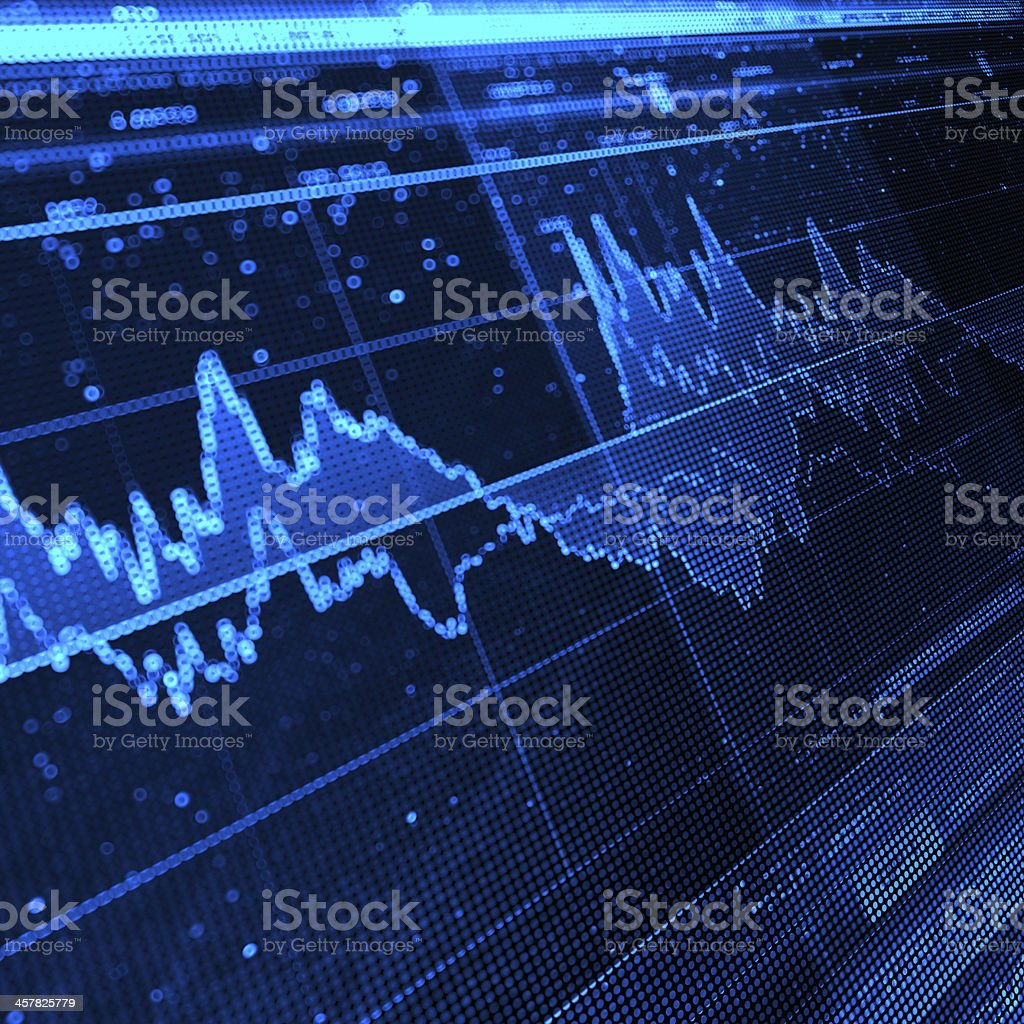 Stock Market Graph royalty-free stock photo