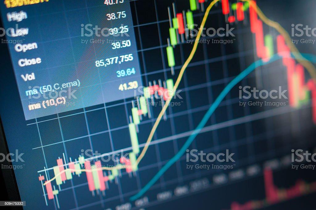 Stock market graph. stock photo